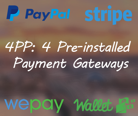 4PP: 4 Pre-installed Payment Gateways by Fundraisingscript.com