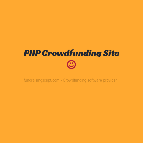 PHP Crowdfunding site