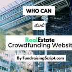 Who can start real estate crowdfunding website?